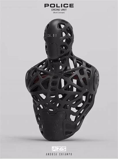 Police Drone Unit Artstation Zbrush Sculpt Concept