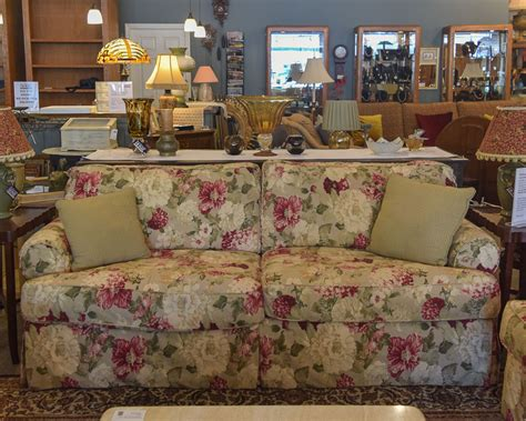 rowe floral sofa  england home furniture consignment