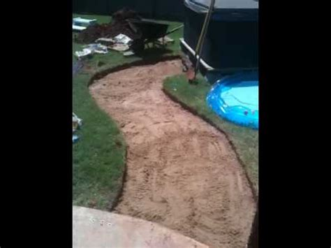 flagstonecrushed granite walkway pt youtube