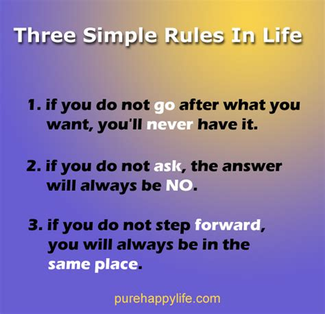 Life Quote Three Simple Rules In Life