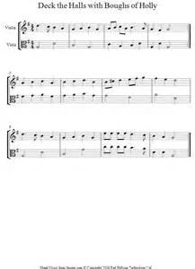 Deck the Halls Violin Duet Sheet Music