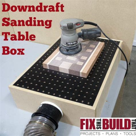 build  diy downdraft table dust collection