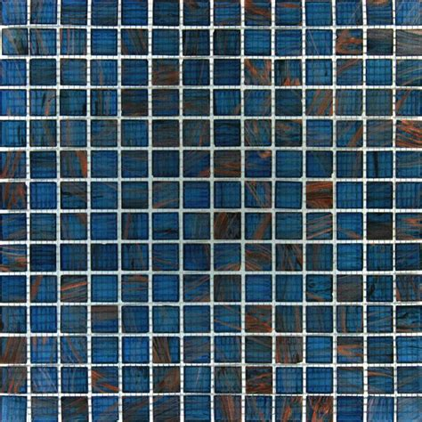 ms international blue iridescent glass 12 in x 12 in x 4