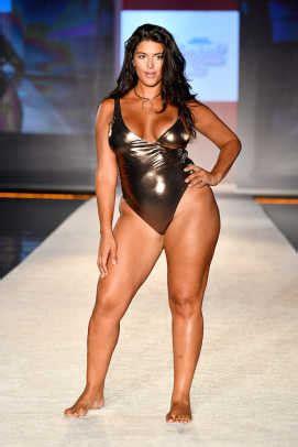 sized models dominated  runway  miami swim week