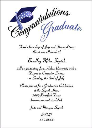 Most Creative Open House Graduation Party Invitation
