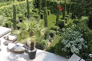 Terrasse En Anglais : jardin aux lignes simples au coeur paris xavier de chirac c t maison ~ Preciouscoupons.com Idées de Décoration