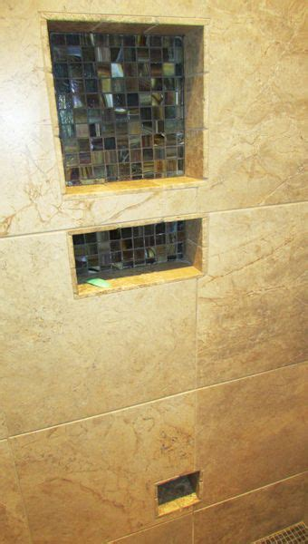 exact tile  residential tiled shower  combo