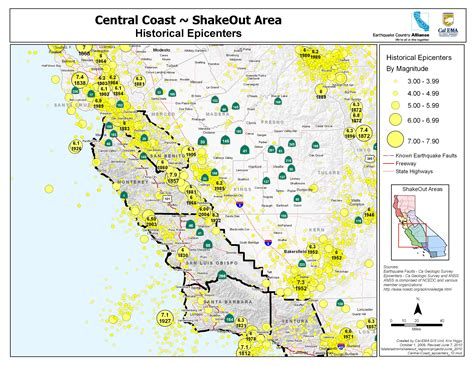 The Great California Shakeout Central Coast Area