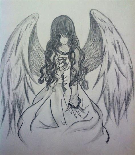 drawn anime angel pencil   color drawn anime angel