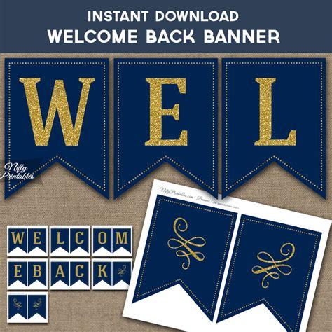 printable   banner navy blue gold