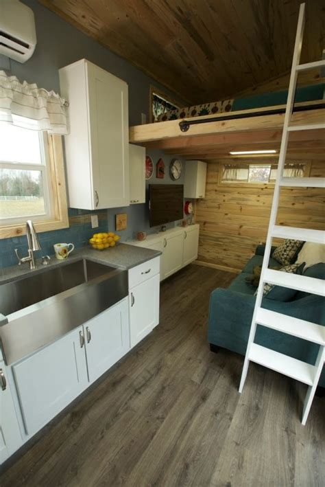 family  fours double loft tiny home  wheels