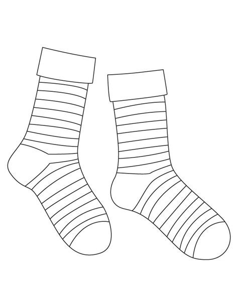 sock template 17 striped socks template images sock coloring page black and white striped ankle socks and