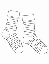 Socks Sock Coloring Template Striped Drawing Pages Syndrome Down Printable Templates Silly Markers Celebrate Elegant Getdrawings Students Sketch Baby  sketch template