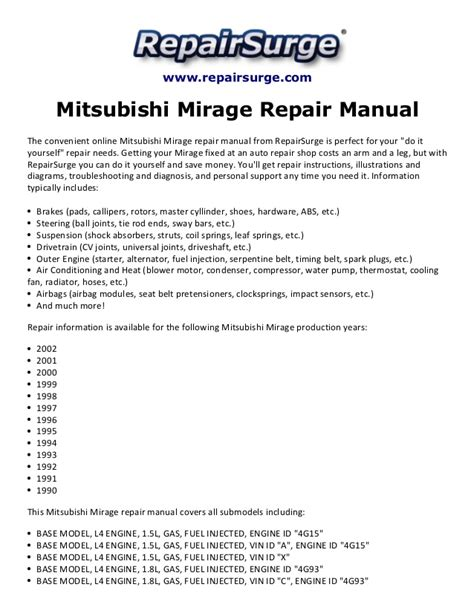 free service manuals online 1990 mitsubishi mirage head up display mitsubishi mirage repair manual 1990 2002