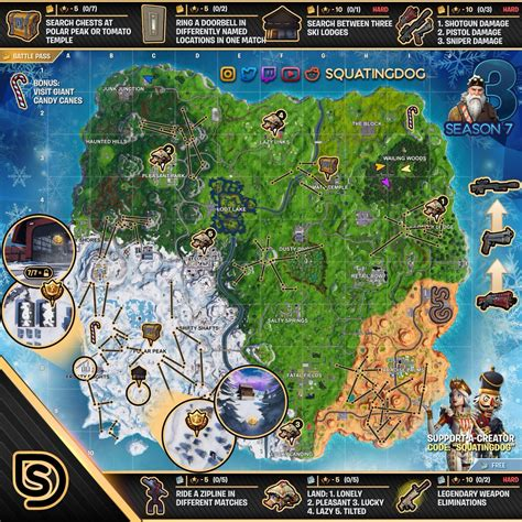 fortnite week 3 challenges fortnite sheet map with locations for season 7 week