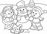 Winter Coloring Printable Everfreecoloring Person sketch template