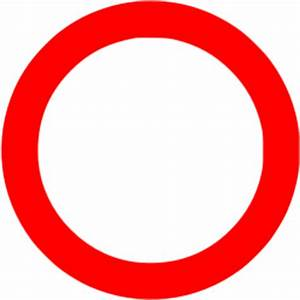Red circle outline icon - Free red shape icons
