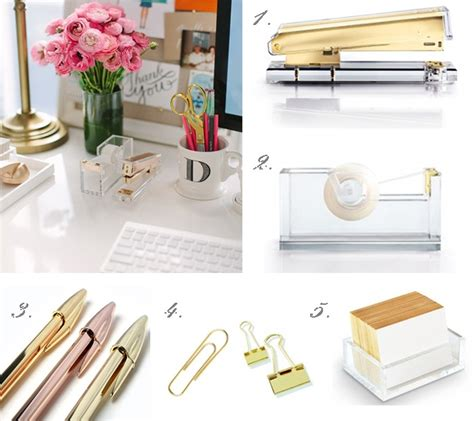pink and gold desk accessories 6 incredible gold desk decor sveigre com