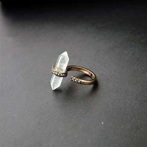 online store unique clearly natural stone engagement ring new design cool gifts ring in