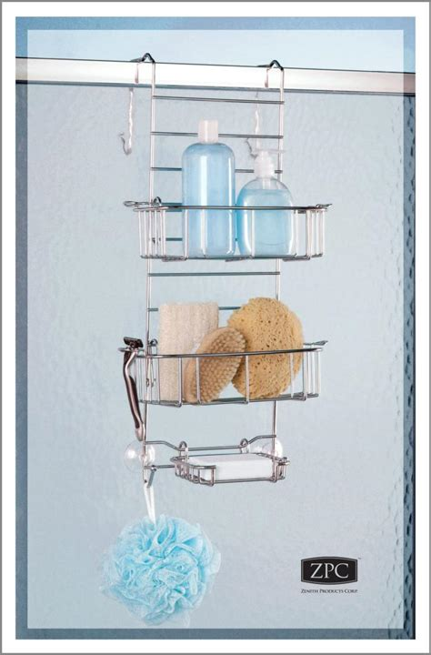 Zenith Shower Caddy Stainless Steel by Zenith Products The Shower Or Tub Door Caddy