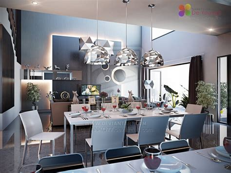 10 Black White Modern Dining Room