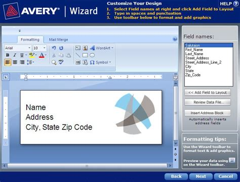 Avery Templates And Software by How To Mail Merge Using Avery Wizard Software For