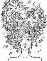 Coloring Adults Girly Printable Pretty sketch template