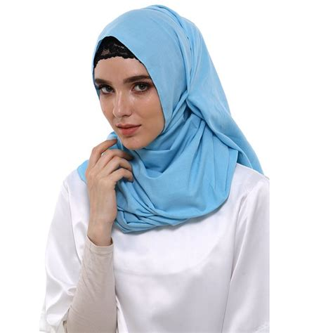 jual jilbab hijab zada pashmina polos cassanova biru