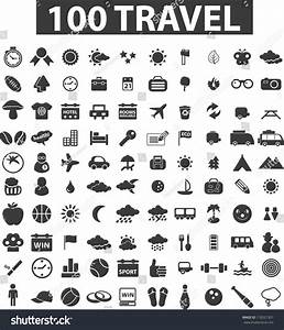 100 Travel Icons Set Vector Stock Vector 118521307 ...