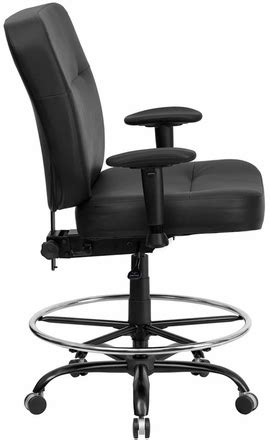 hercules big and drafting chair black leather 400 lb capacity drafting chair by hercules