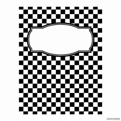 Binder Math Printable Templates Checkered Covers Template