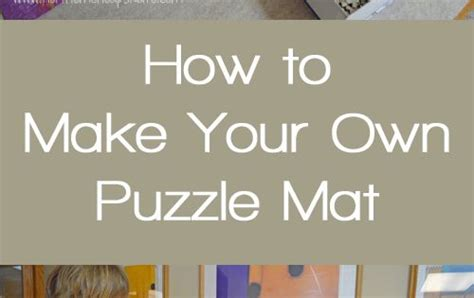 Make Your Own Doormat by How To Make Your Own Puzzle Mat Puzzle Mat Desks And Kid