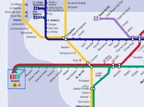 Mapa Zonas Metro Valencia