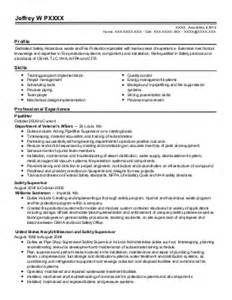 safety specialist resume missouri enlisted resume exles find the best enlisted
