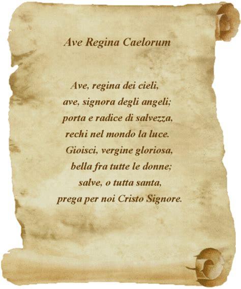 Salve In Testo by Ave Coelorum La Gioia Della Preghiera