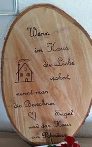 Sprüche Auf Holz : baumscheibe beschriftet kreatives baum basteln und holz ~ Orissabook.com Haus und Dekorationen