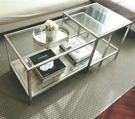 Ikea Couchtisch Hack by Ikea Vittsjo Nesting Table Hack Aged Silver Leaf And