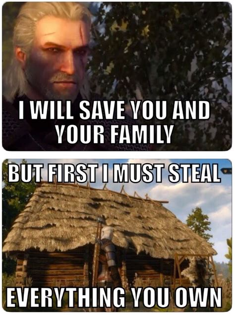 Witcher 3 Memes - witcher 3 logic video game fun pinterest video games gaming and wild hunt