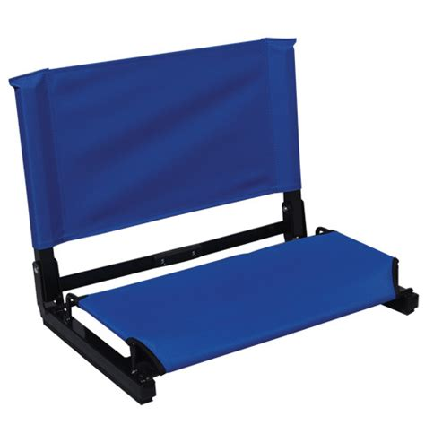 purple portable large deluxe stadium chair stadium bleacher seat with back support