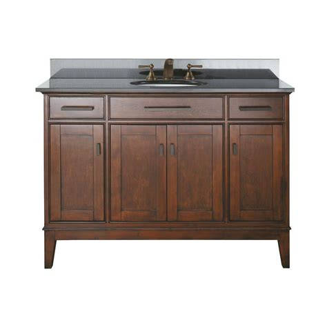 avanity 48 inch w vanity in tobacco finish with