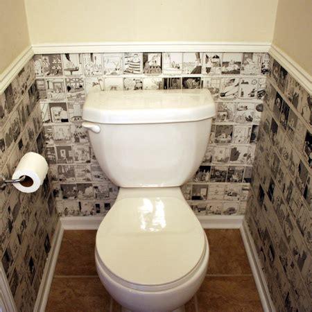 guest toilet home dzine bathrooms cartoon wallpaper for a guest toilet