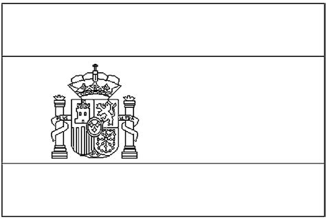 Kleurplaat Spaanse Vlag landen europa kinder kleurplaten spanje