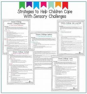 Sensory Processing. Occupational Therapy resources that ...