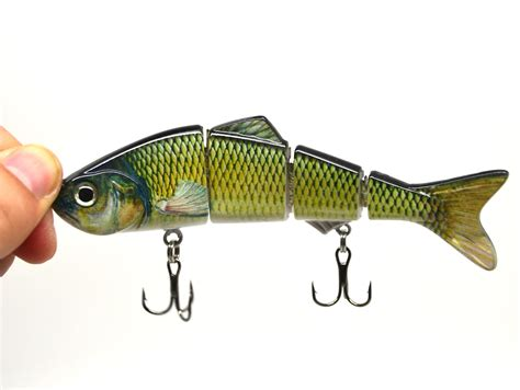 cm bass pike fishing multi jointed bait lure life
