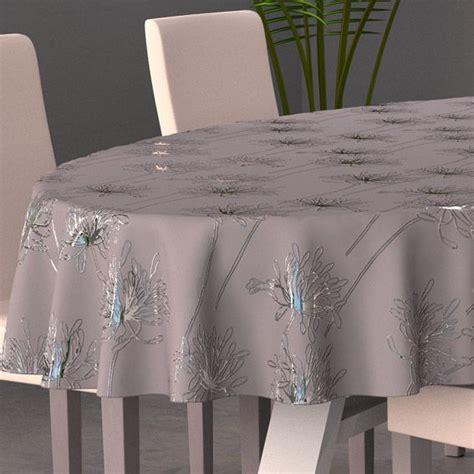 tissus pour nappes de table nappe ovale l230 cm gris nappe de table eminza