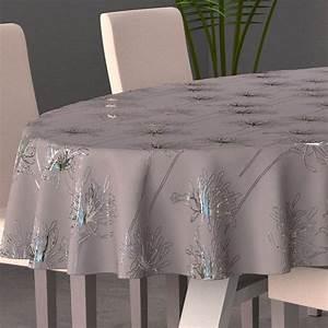 Nappe Table Ovale : nappe ovale l230 cm emma gris nappe de table eminza ~ Teatrodelosmanantiales.com Idées de Décoration