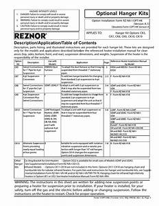 Reznor Ck10 Option - Installation