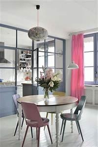 La verriere interieure se fait deco dans la cuisine for Deco cuisine avec salle a manger complete table ronde