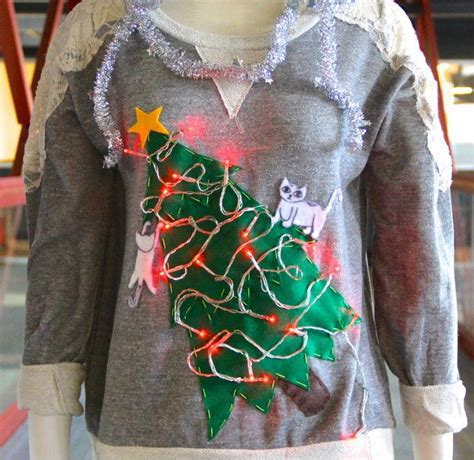 quot cat lady quot diy ugly christmas sweater