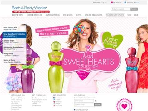 And Bath Collection Website by Bath Works Sweethearts Collection Bath Fragrance